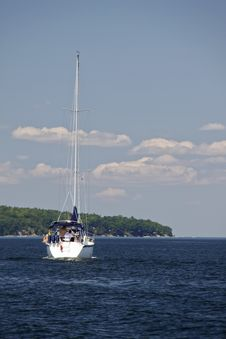 Sailing Lake Champlain - North To Canada! Stock Images