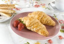 Free Croissants For Breakfast Stock Photography - 18471782