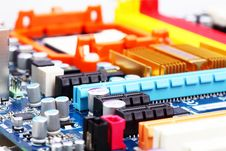 Computer Motherboard Closeup Stock Image