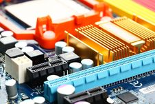 Computer Motherboard Closeup Royalty Free Stock Images