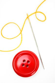 Free Button With Needle And Thread Stock Photos - 18472393