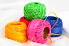Free Colored Thread, Needles Stock Photos - 18472513
