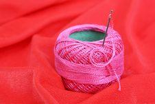 Free Colored Thread, Needles Stock Photo - 18472660