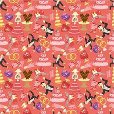 Free Seamless Wedding Pattern Stock Images - 18472714
