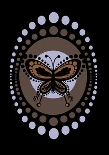 Free Retro Butterfly Stock Images - 18473444