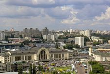 Railway Station In Kiev Royalty Free Stock Images