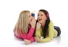 Free Two Pretty Female Friends Having Fun And Laughing Stock Images - 18474044