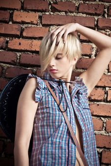 Free Fashion Beautiful Blond Girl Royalty Free Stock Photography - 18475077