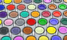 Free Color Tins Royalty Free Stock Photo - 18475395
