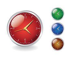 Free Modern Shiny Metal Clocks Royalty Free Stock Photo - 18475545