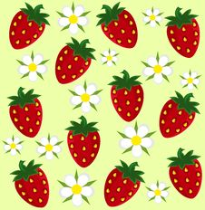 Free Strawberry Background Royalty Free Stock Images - 18476219