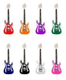 Free Colored Electric Guitars Stock Images - 18477334