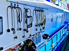 Free Placed Diving Equipment Stock Photos - 18477363