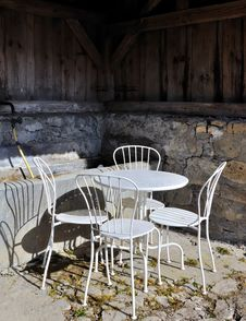 Covered Terrace Stock Photography