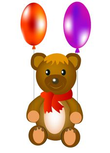 Toy Teddy Bear With Ball Royalty Free Stock Images