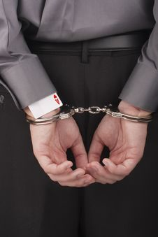 Free Arrest Card Sharper Royalty Free Stock Photography - 18478347