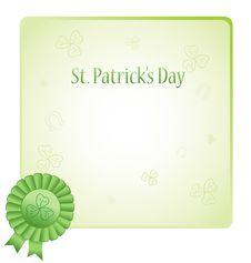 St. Patrick Day Postcard Illustration Royalty Free Stock Photos