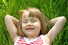 Free Cute Little Girl In Grass Stock Photos - 18479223