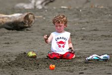 Free Toddler Boy Playing In Sand Royalty Free Stock Photos - 18479458