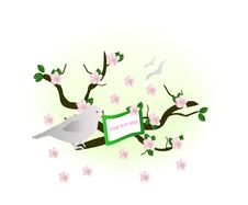 Free Cherry Blossom, Cdr Vector Royalty Free Stock Photos - 18479768