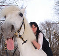Free Girl And Horse Royalty Free Stock Image - 18480456