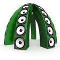 Free Dome Of Green Sound Boxes Stock Image - 18481421