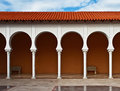 Free Pattern Of Covered Arcade In Spanish Style. Stock Images - 18483074