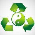 Free Green Yin Yang Stock Photos - 18483723