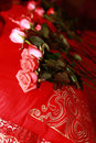 Free Bridal Bouquet On A Red Bed Royalty Free Stock Photos - 18486668