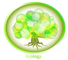 Free Abstract Tree From Circles. Ecological Background. Royalty Free Stock Photos - 18480268