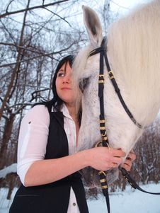 Free Girl And Horse Stock Photos - 18480433