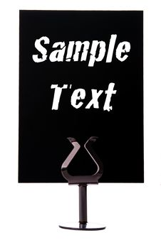 Free Black Sign With Space For Text Royalty Free Stock Photos - 18480778