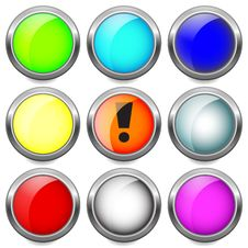 Free Set Buttons. Stock Photos - 18480803