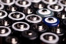 Free Many Batteries At An Angle From Above Stock Images - 18480854