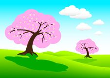 Free Spring Landscape Royalty Free Stock Photography - 18481147