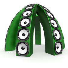 Dome Of Green Sound Boxes Stock Image