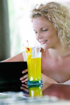 Free Beautiful Woman In Cafe Stock Photos - 18481673