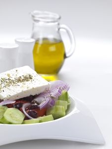 Free Typical Greek Salad Royalty Free Stock Photos - 18481738