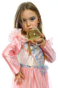 Free Little Girl Drinking Juice Stock Image - 18481781