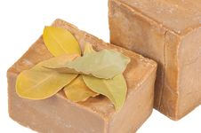 Free Traditional Laurel Soaps, Isolated Stock Photo - 18481790
