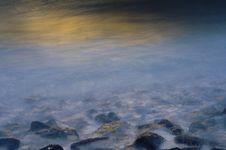 Free Waves At Sunset Royalty Free Stock Image - 18481906