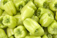 Free Green Peppers(horizontal) Stock Image - 18482221