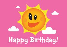 Free A Happy Birthday Sun Illustration Stock Photos - 18482963