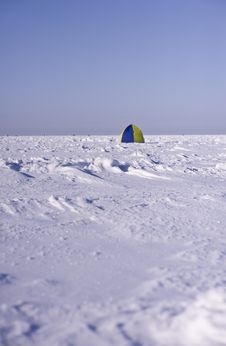 Free Tent On Sea Ice Royalty Free Stock Photos - 18483018