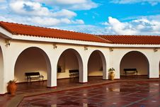 Free Pattern Of Covered Arcade In Spanish Style. Stock Image - 18483231