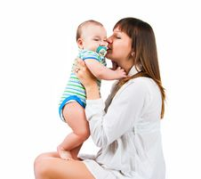 Free Pretty Young Women With Her Son Royalty Free Stock Photography - 18483377