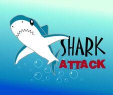 A Colourful Shark Vector Illustration Royalty Free Stock Photo