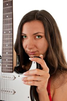 Free Girl With A Guitar Stock Photography - 18483522