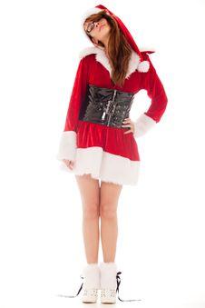 Free Sexy Santa Girl Royalty Free Stock Photography - 18483617