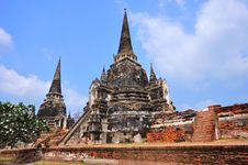 Free Ancient Temple Of Ayutthaya, Thailand. Royalty Free Stock Images - 18486689